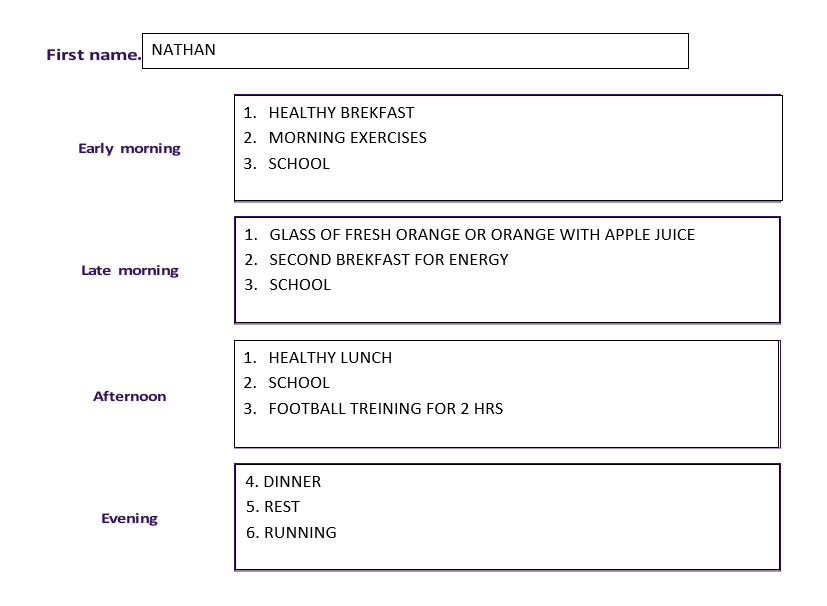 Nathan's healthy routine