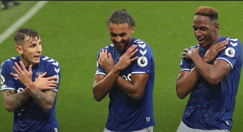 Group of Premier League footballers.