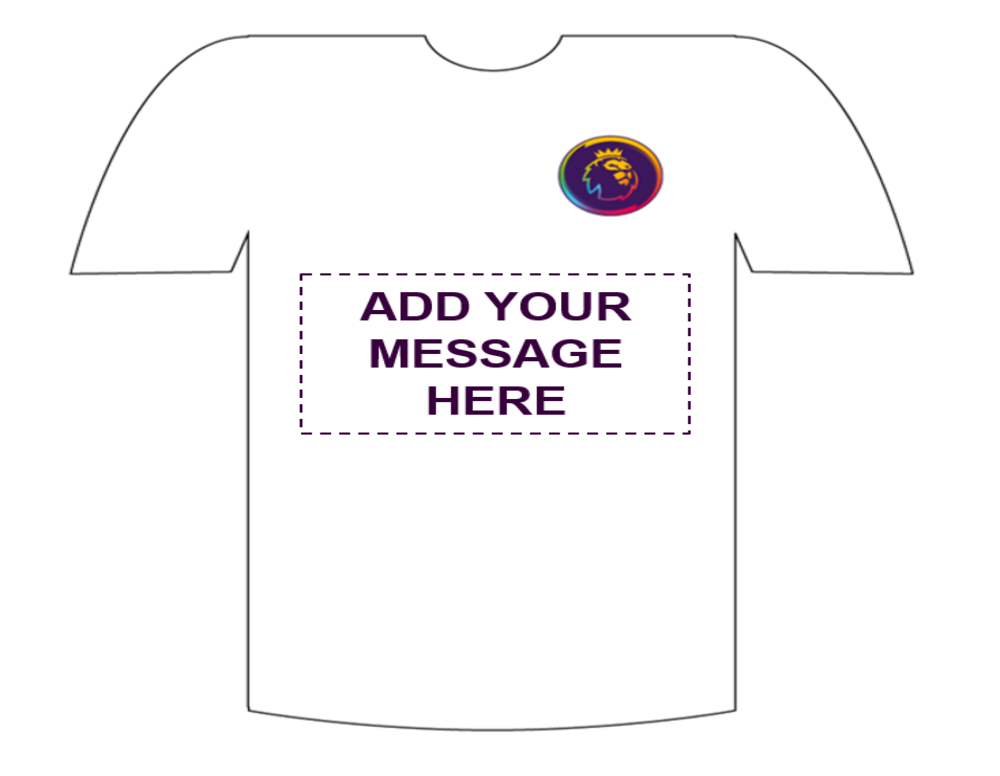 Photo of the t-shirt that pupils will design.