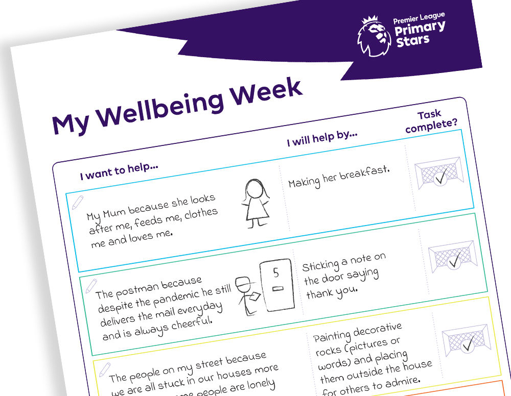 Get involved in the Premier League Wellbeing Stars challenge!