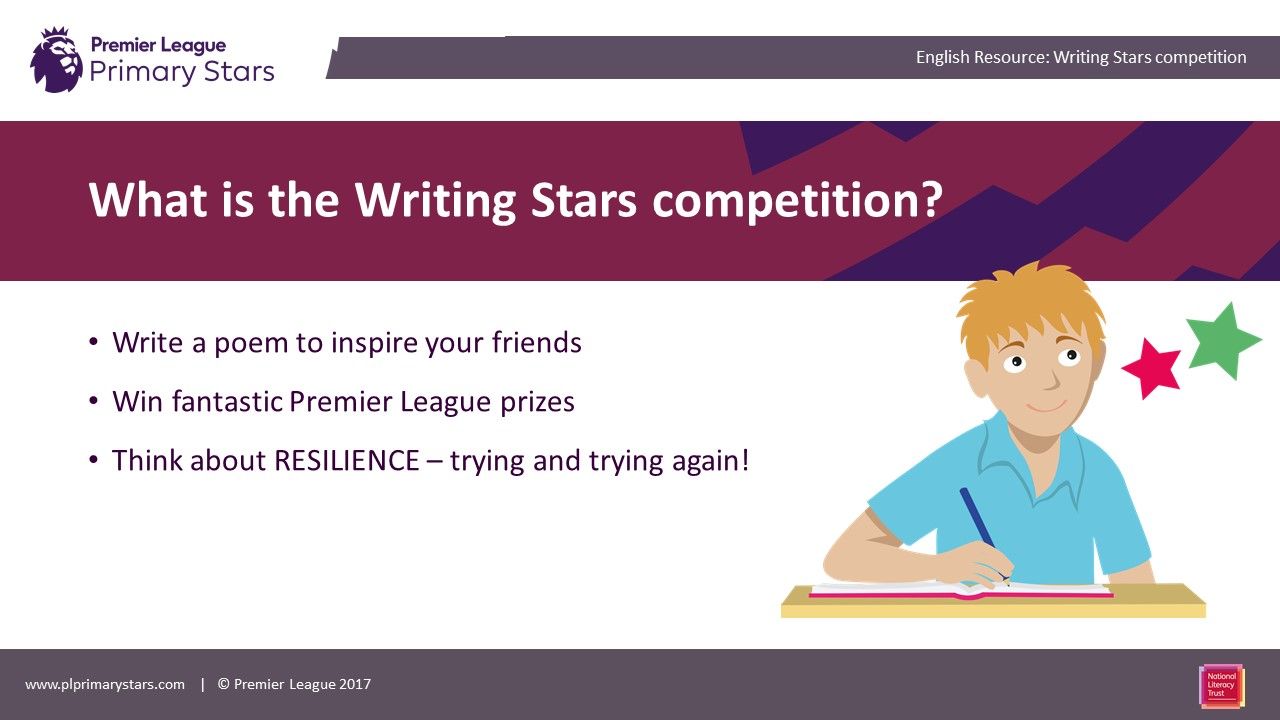Premier League Writing Stars competition image