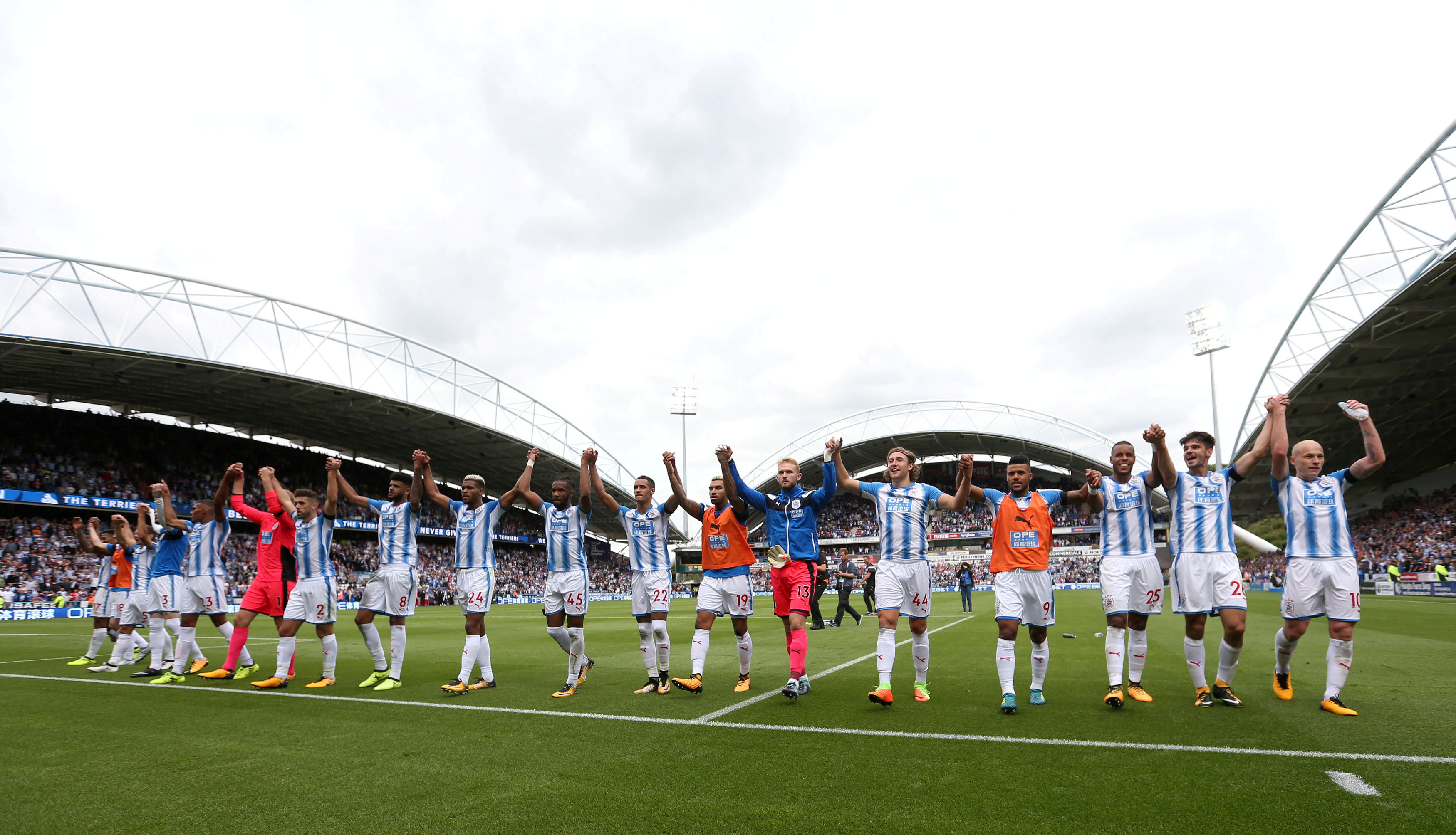Huddersfield players